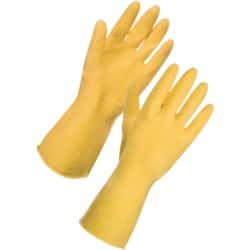 Supertouch Gloves rubber size l Yellow 12 pieces