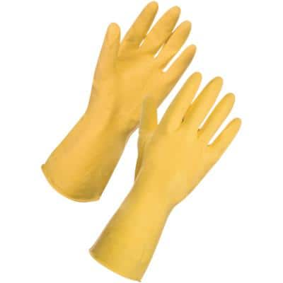Supertouch Gloves Latex Size L Yellow Pack of 12