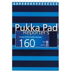 Pukka Navy Reporters Pad Blue - Pack of 3