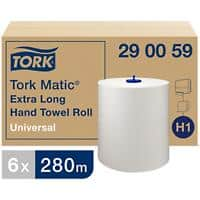 Tork Hand Towels H1 Matic Universal 1 Ply Without feather edge White 6 Rolls of 1143 Sheets