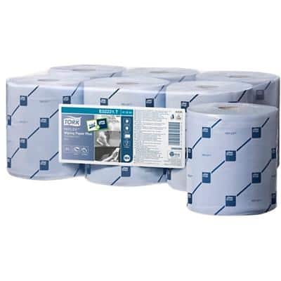 Tork M4 Reflex Wiping Paper Roll Blue 2 Ply 6 Rolls of 429 Sheets