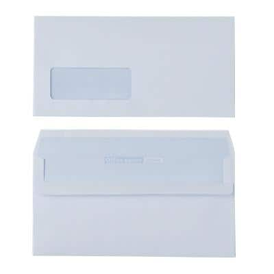 Office Depot DL Envelopes 220 x 110mm Self Seal Window 100gsm White Pack of 500