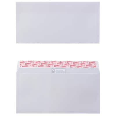 Office Depot DL Envelopes 100gsm White Plain Peel and Seal 110 x 220 mm Pack of 500