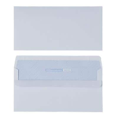 Office Depot DL Envelopes 220 x 110mm Self Seal Plain 110gsm White Pack of 500
