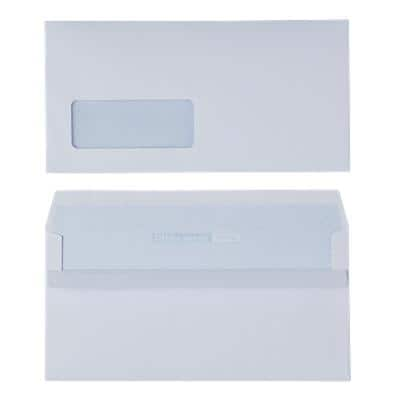 Office Depot DL Envelopes 220 x 110mm Self Seal Window 110gsm White Pack of 500