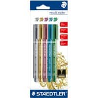 Staedtler Metallic Markers - Assorted - Pack 5