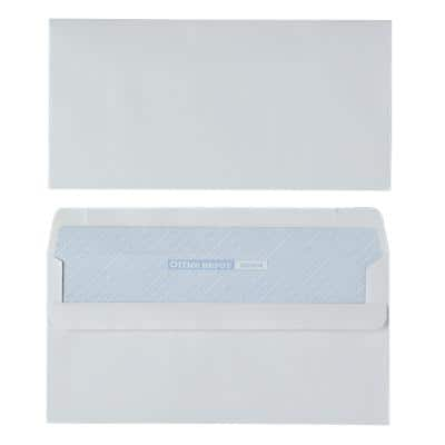 Office Depot Envelopes DL 110 x 220 mm 90 gsm White Plain Self Seal Box of 500