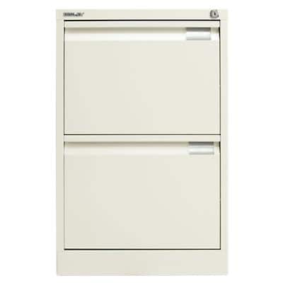 Bisley Flush Front Filing Cabinet with 2 Lockable Drawers 1623 470 x 622 x 711mm White