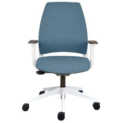 Ergonomic Office Chair IMAGE plus 302 White and Frozen Blue