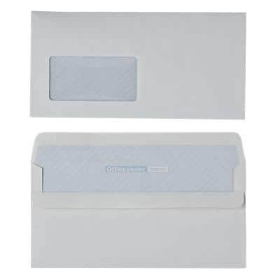 Office Depot Envelopes Recycled DL 110 x 220 mm 90 g/m² White Window Self Seal 500 Pieces