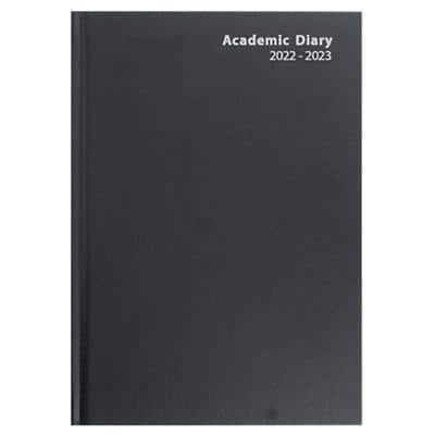 Niceday Academic Mid Year Diary A5 Day per Page 2020/2021 Black