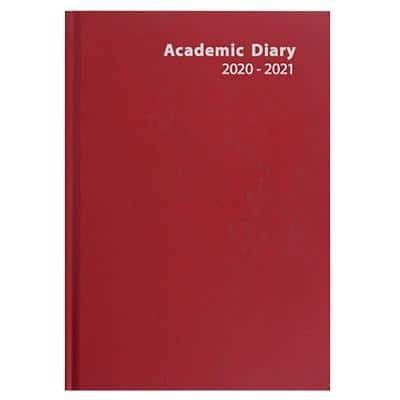 Niceday Academic Mid Year Diary A5 Day per Page 2020/2021 Red