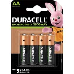 Duracell Battery Recharge Ultra AA 4 batteries