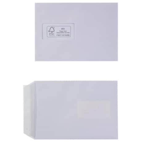 Office Depot Envelopes c5 100gsm White window peel and seal 500 pieces