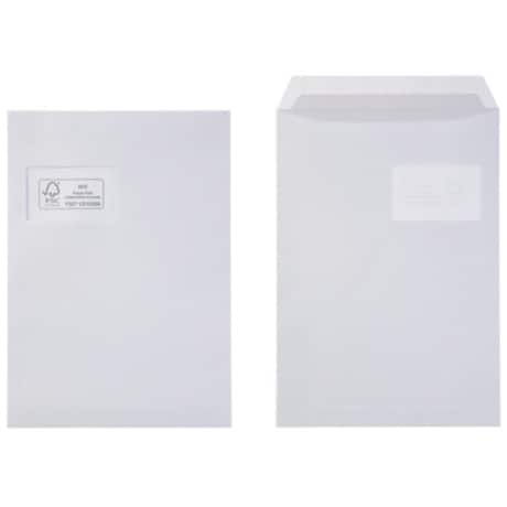 Office Depot Envelopes c4 100gsm White window peel and seal 250 pieces