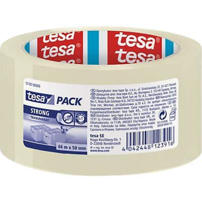 tesapack 57167-00000 Strong Packaging Tape 50mm x 66m Transparent