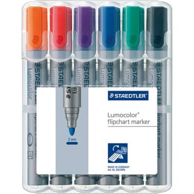 STAEDTLER Flipchart Markers 356 Bullet 2 mm Assorted 6 Pieces