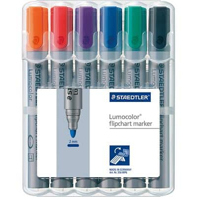STAEDTLER 356 Flipchart Marker Medium Round Assorted Pack of 6