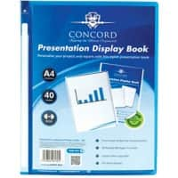 Pukka Pad Concord Presentation Display Book A4 Blue 40 Pockets