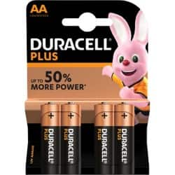 Duracell Battery Plus Power AA 4 pieces 4 pieces