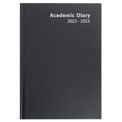 Niceday Academic Mid Year Diary A4 Week to View 2020/2021 Black