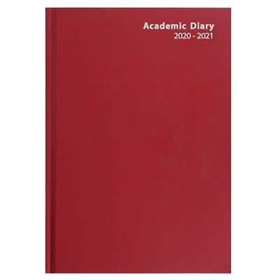 Niceday Academic Diary A4 Week to view 2019, 2020 Red