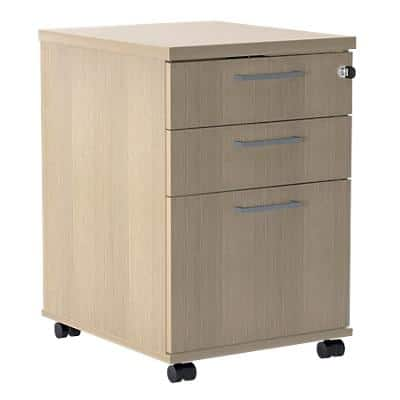 Mobile Pedestal PSR535 Oak 500 x 415 x 638 mm