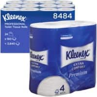 Kleenex Toilet Rolls 8484 4 Ply 4 Rolls of 160 Sheets