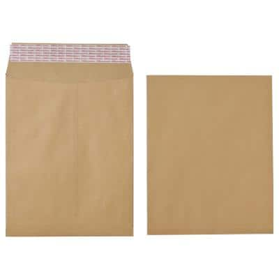 Office Depot Non Standard Gusset Envelopes 305 x 254 x 25mm Peel and Seal Plain 115gsm Brown 125 Pieces