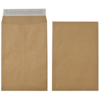 Office Depot C4 Gusset Envelopes 229 x 324mm Peel and Seal Plain 120gsm Brown 1Pack of 25