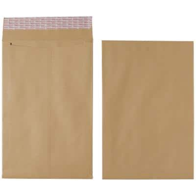 Office Depot Gusset Envelopes Non standard 115gsm 254 xx 356 mm Brown Plain Peel and Seal 125 Pieces