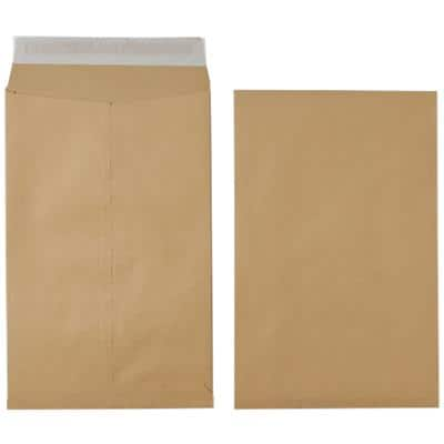 Office Depot Non Standard Gusset Envelopes 254 x 381 x 25mm Peel and Seal Plain 115gsm Brown 1Pack of 25