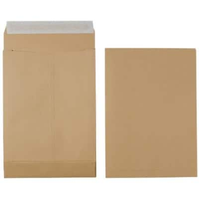 Office Depot Non Standard Gusset Envelopes 254 x 356mm Peel and Seal Plain 140gsm Brown 125 Pieces