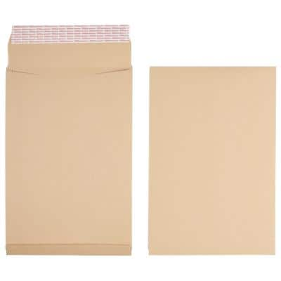 Office Depot Non Standard Gusset Envelopes 254 x 381mm Peel and Seal Plain 140gsm Brown 125 Pieces