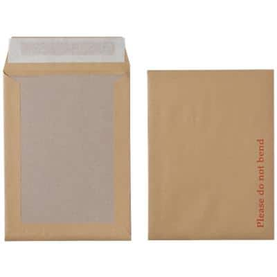 Office Depot Board Back Envelopes Non Standard Peel and Seal 241 x 178mm Plain 115gsm Brown Pack of 125