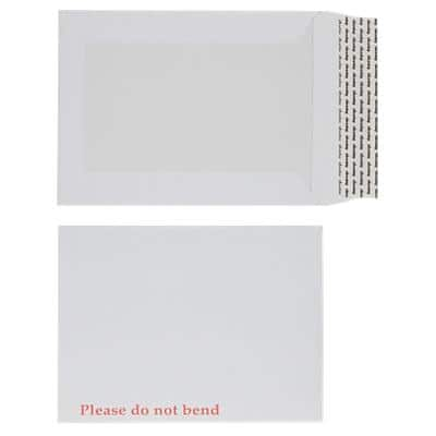 Office Depot Board-Backed Envelopes Non standard 112gsm White Plain Peel and Seal 125 Pieces
