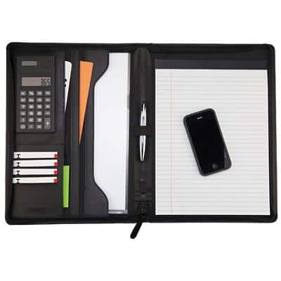 Masters Zip Around Conference Folder with Calculator A4