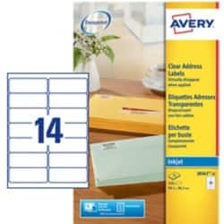 Avery Address Labels J8563-25 Transparent 350 labels per pack