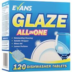 Evans Vanodine Dishwasher Tablets Glaze All In One lemon 120 pieces