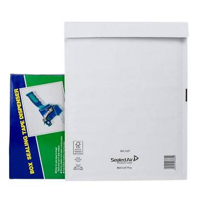 Mail Lite Plus Padded Envelopes H/5 270 (W) x 360 (H) mm Peel and Seal White Pack of 50