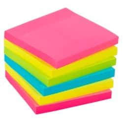 Office Depot Extra Sticky Notes 76 x 76 mm Assorted 6 Pieces of 90 Sheets