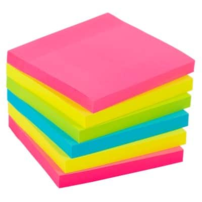 Office Depot Extra Sticky Notes Assorted Assorted 6 Pieces of 90 Sheets