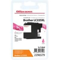 Office Depot Compatible Brother LC225XL Ink Cartridge Magenta
