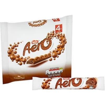 Nestlé Aero Milk Chocolate Bar No Artificial Colours, Flavours or Preservatives 27g 4 Pieces