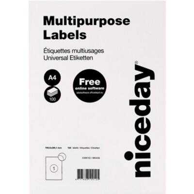 Niceday Laser Labels White 100 labels per pack