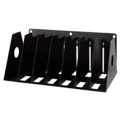 Rotadex Filing Rack A4 Holds up to seven ring binders Black 16.2 x 36.8 x 22.2 cm