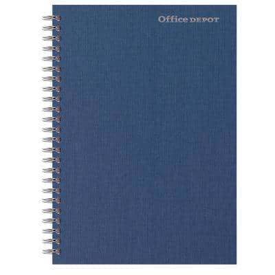 Office Depot Notebook Navy Blue A5 Ruled Perforated 80 Sheets