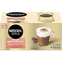 NESCAFÉ Gold Cappuccino Unsweetened Taste Instant Ground Coffee Sachets Unsweetened 14.2g Pack of 50