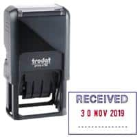 Trodat Ecoprinty 47501 Received Date Stamp Black