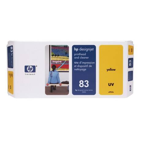 HP 83 Original Yellow Print Head and Cleaner C4963A